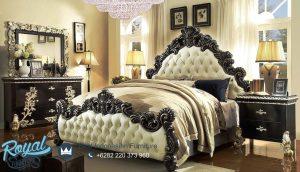 Set Tempat Tidur Mewah Klasik Antique Black Silver