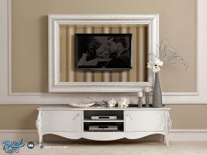 Bufet Tv Mewah Terbaru Putih Duco Art Italy