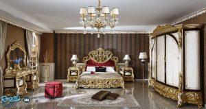 Set Tempat Tidur Mewah Klasik Ukir Jepara Eropan Terbaru