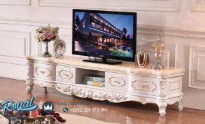 Bufet Tv Jepara Mewah Modern Ukir Model Terbaru