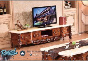 Model Bufet Tv Ukiran Kayu Jati Klasik Terbaru