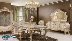 Model Meja Makan Mewah Modern Turky Style Ukiran Jepara Terbaru
