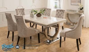 Set Meja Makan Jepara Minimalis Luxury Terbaru Wonderfull