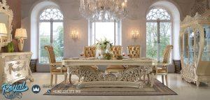 Set Meja Makan Jepara Terbaru Ukiran Mewah Klasik Homey Design