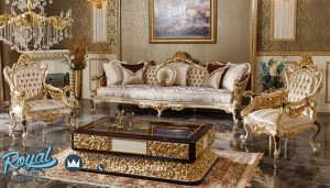 Set Sofa Tamu Ukiran Jepara Mewah Terbaru Turky Klasik