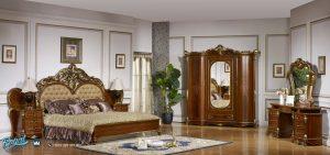 Bedroom Set Tempat Tidur Klasik Kayu Jati Ukir Jepara Mewah Arabian Terbaru
