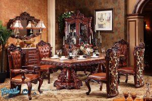 Model Set Kursi Meja Makan Klasik Antik Ukir Jepara Terbaru Kualitas Terbaik
