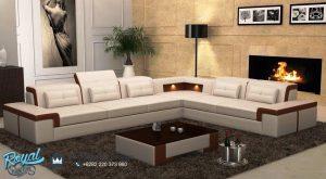 Sofa Ruang Tamu Minimalis Jepara Terbaru Leter L Sudut Simple Elegant