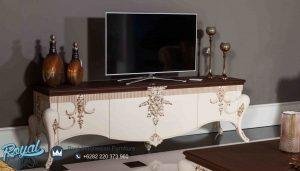 Bufet Tv Jepara Terbaru Pendek Ukiran Klasik Turky Style