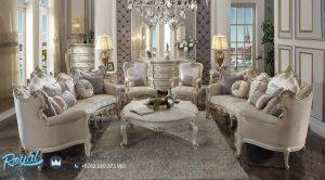 Desain Sofa Tamu Mewah Modern Ukir Jepara Terbaru Antique Pearl