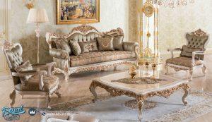 Sofa Tamu Jepara Mewah Modern Terbaru Ukiran Vittoria