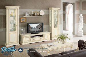 Desain Bufet Tv Minimalis Kayu Jepara Mewah Modern Italian Terbaru