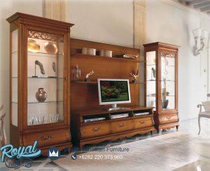Bufet Tv Kayu Jati Minimalis Klasik Jepara Terbaru Natural Teak Wood