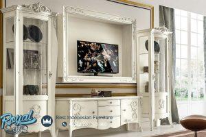 Bufet Tv Modern Mewah Putih Duco Tessa
