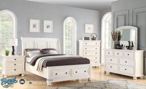 Model Tempat Tidur Anak Kayu Minimalis Warna Putih Avalon