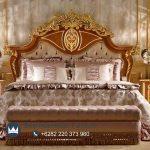 Set Tempat Tidur Klasik Jati Ukir Crowned