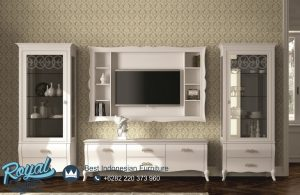 Bufet Tv Minimalis Modern Warna Putih Dallagnese