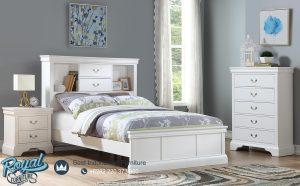 Kamar Tidur Anak Warna Putih Kayu Jepara