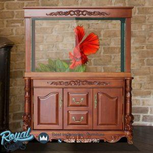 Lemari Cabinet Aquarium Ukir Mebel Jepara Eropan Style