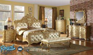 Set Tempat Tidur Mewah Modern Gold Bedroom