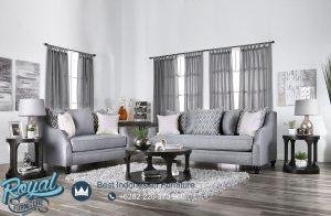 Desain Sofa Ruang Tamu Minimalis Jati Grey