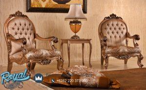 Desain Sofa Teras Ruang Tamu Gold Classic